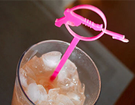 Custom drink stirrers laser cut out of acrylic